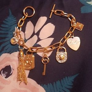 8 Piece Michael Kors Gold Charm Bracelet! NEW